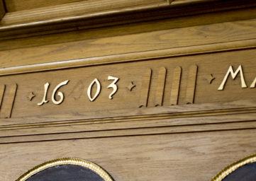 Inschrift in der Stadtkirche Baden