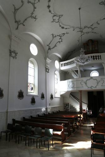 Innenansicht der Kapelle Mariawil im Kappelerhof