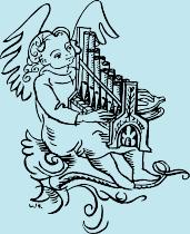 Ein Engel mit Harfe - das Logo des Badener Orgelsommers