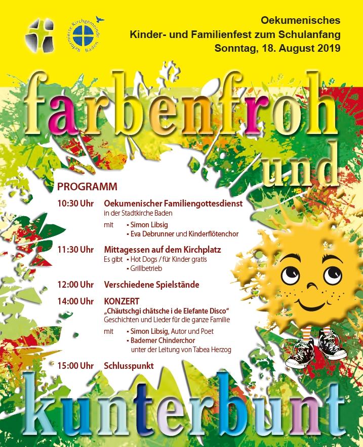 Kinder- und Familienfest 18. August 2019