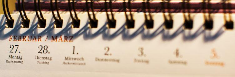 Titelbild Agenda: Kalenderblatt