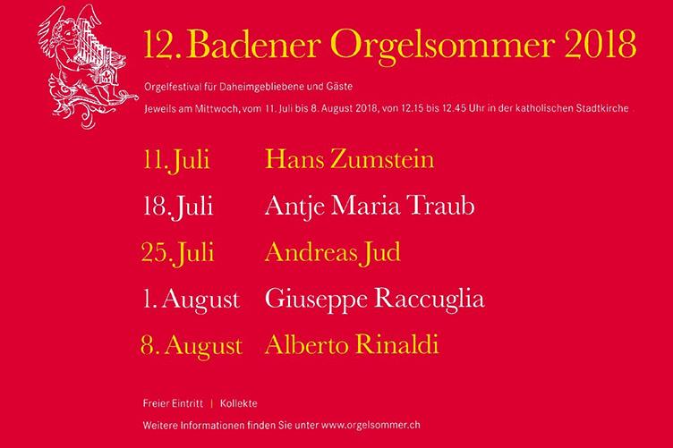 12. Badener Orgelsommer
