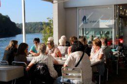 Vereinsausflug der Frauengemeinschaft St. Sebastian zum Rheinfall und zur Insel Mainau