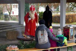 Kinder besuchen den Samichlaus 17