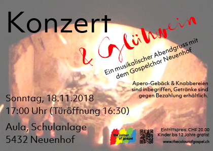"Konzert Gospelchor Neuenhof ""the Colours of Gospel"""