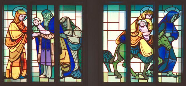 Kirchenfenster von Anton Flüeler, Stans