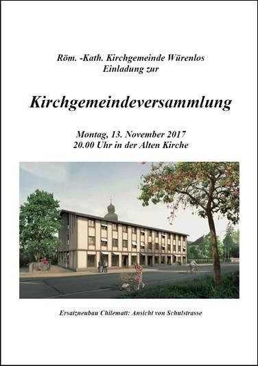Kirchgemeindeversammlung 2017