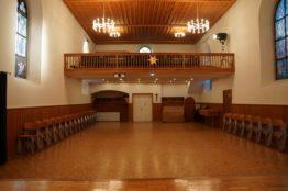 Saal Alte Kirche - Richtung Eingang