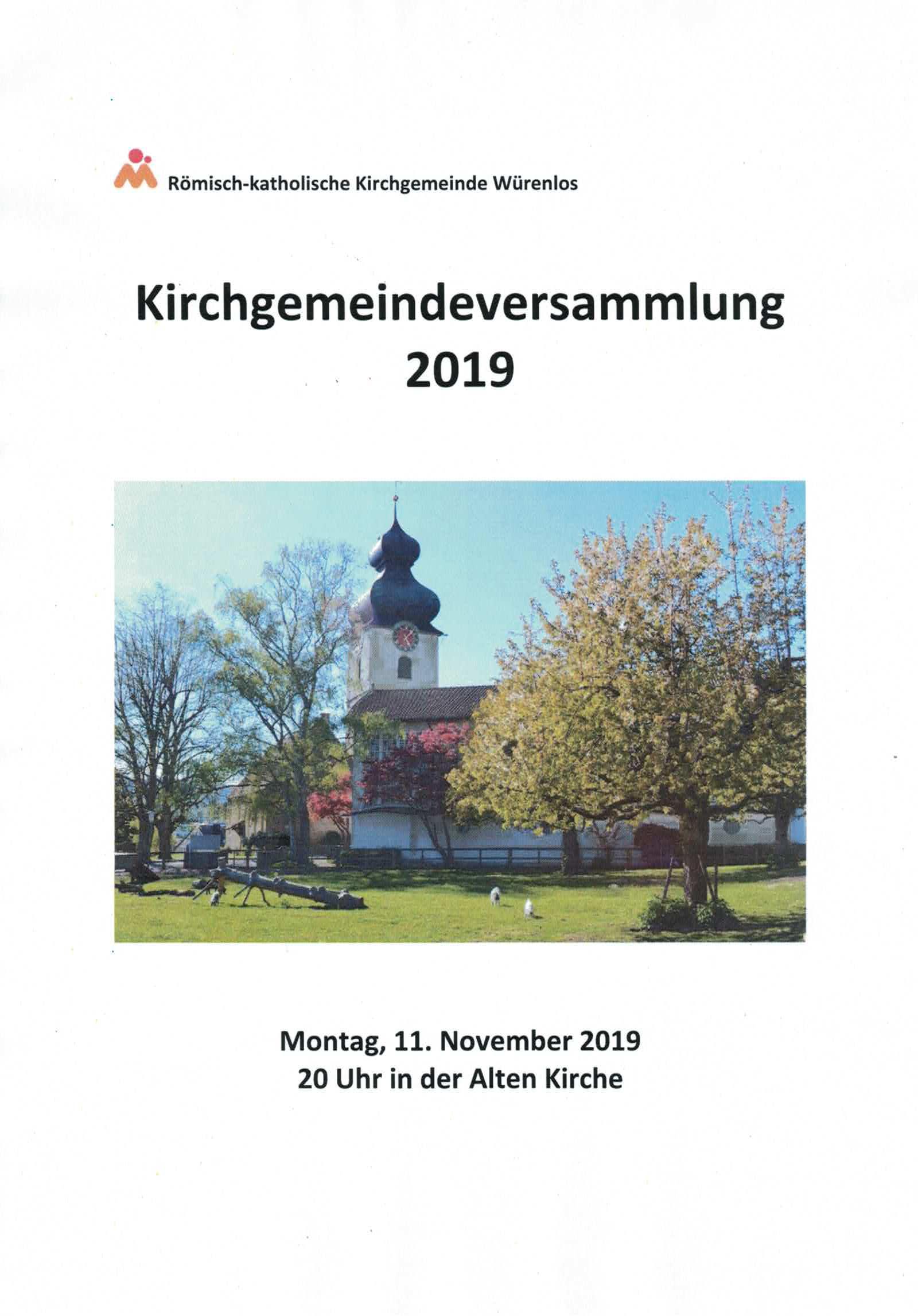 Kirchgemeindeversammlung 2019