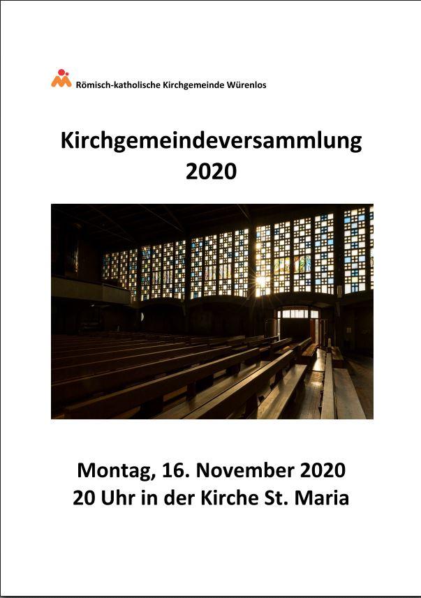 Kirchgemeindeversammlung 2020